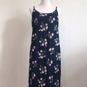 Gap floral navy maxi dress